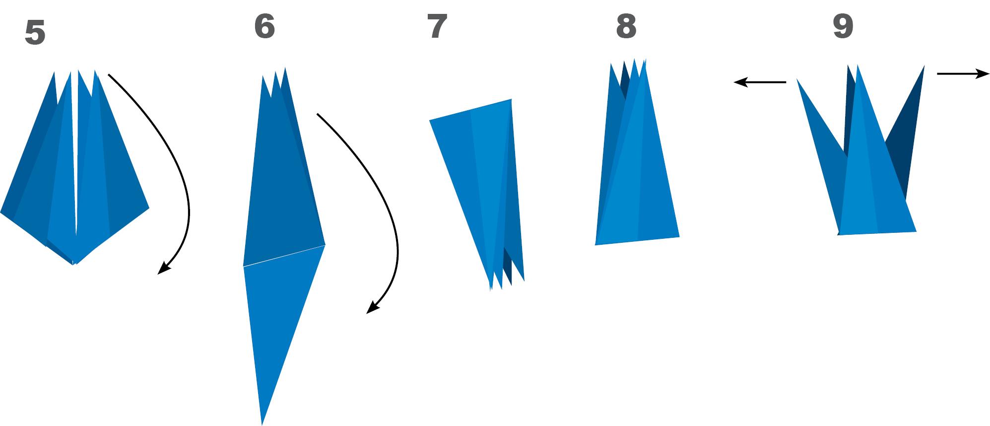 Como fazer tsuru de papel passo a passo patchwork